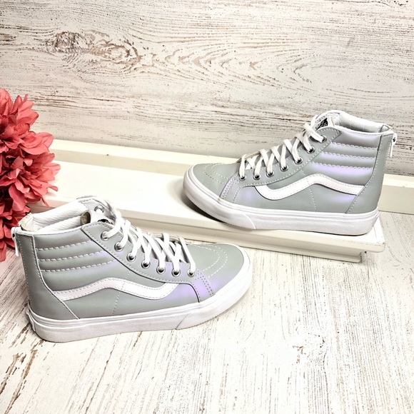 49a74e8b5a Vans Sk8-Hi Slim Zip Leather wind chime sneakers. M 5bf4d29f6a0bb7818446040d